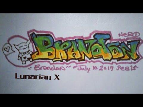 Graffiti Names: Brandon - YouTube