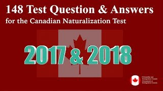 148 Canadian Citizenship Naturalization INTERVIEW QUESTIONS & ANSWERS 2018