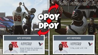 Can 1 Player Win OFFENSIVE and DEFENSIVE PLAYER OF THE YEAR??  Madden 19 Mythbusters