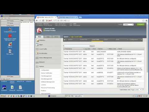 Config Local Traffic remote logging on F5 Load Balancer - YouTube