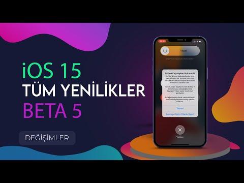 iOS 15 Beta 5 Tüm Yenilikler !