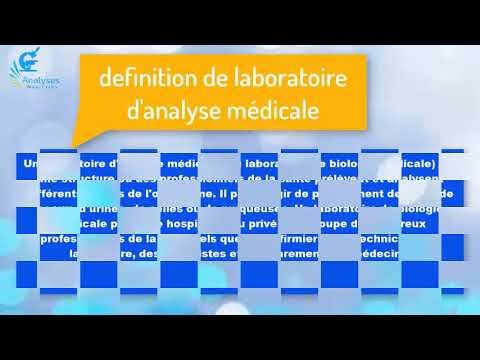 introduction sur les analyses médicales