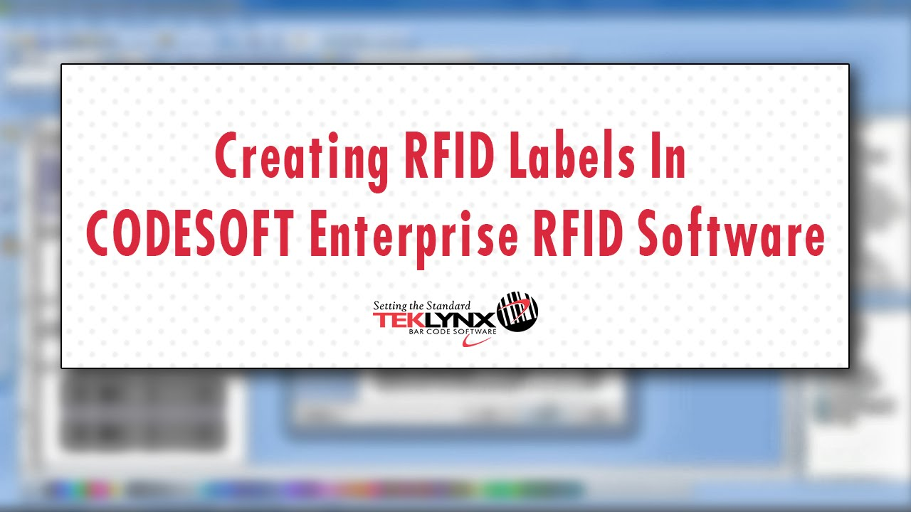 Video: How to Create an RFID Label in CODESOFT