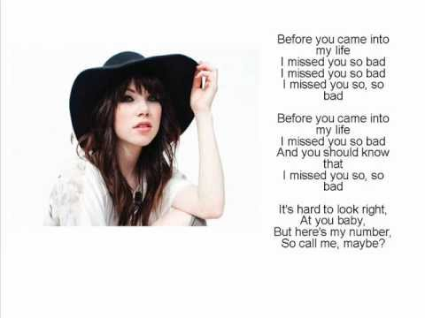 carly rae jepsen call me maybe lyrics pdf