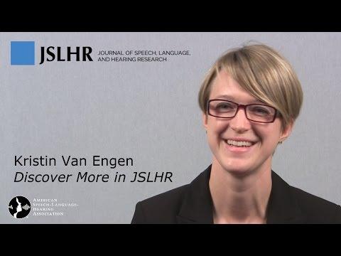 Speech Intelligibility: Interactions of Context, Clear Speech, Visual Input - with Kristin Van Engen