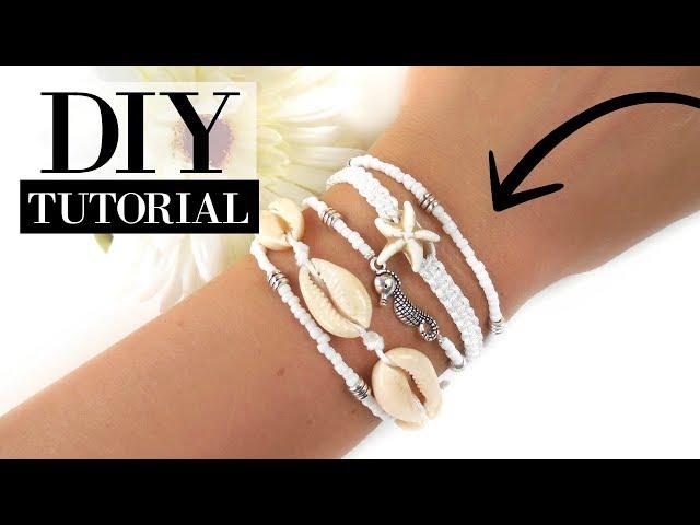 Hoe Maak je een Enkelbandje of Armbandje met Schelpjes?