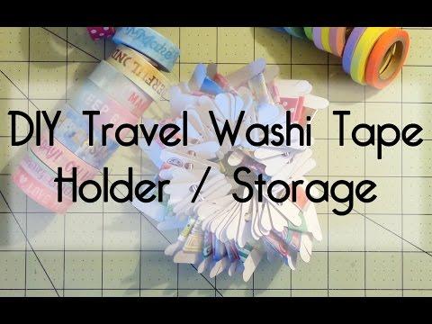 DIY Travel Washi Tape Holder / Storage