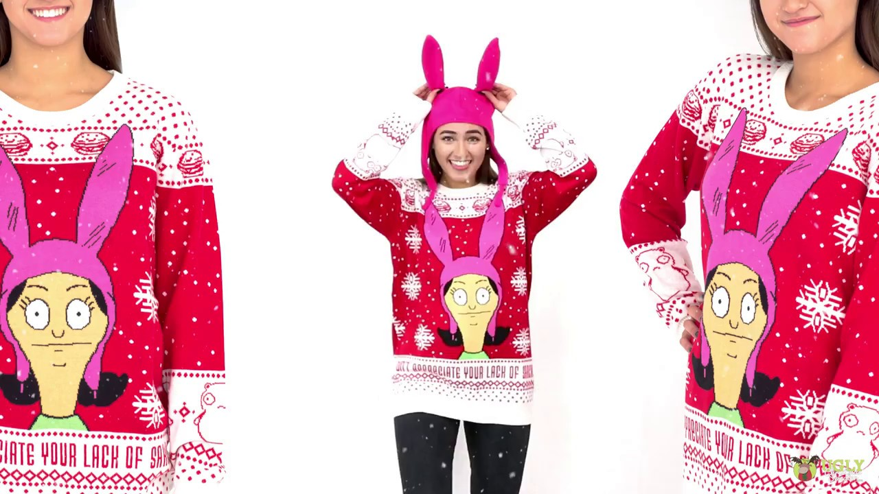 Bobs Burgers Louise Ugly Christmas Sweater Youtube