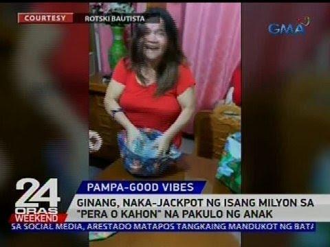 Ginang, naka-jackpot ng isang milyon sa 'pera o kahon' na pakulo ng anak