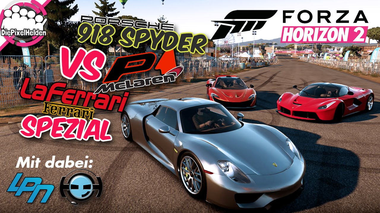 forza horizon 2 124 918 spyder vs p1 vs laferrari spezial let 39 s play forza horizon 2 youtube. Black Bedroom Furniture Sets. Home Design Ideas