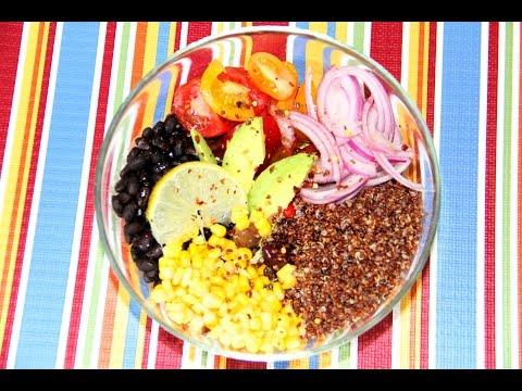 Quinoa Salad Bowl Video Recipe | Vegan & Gluten Free | Bhavna's Kitchen