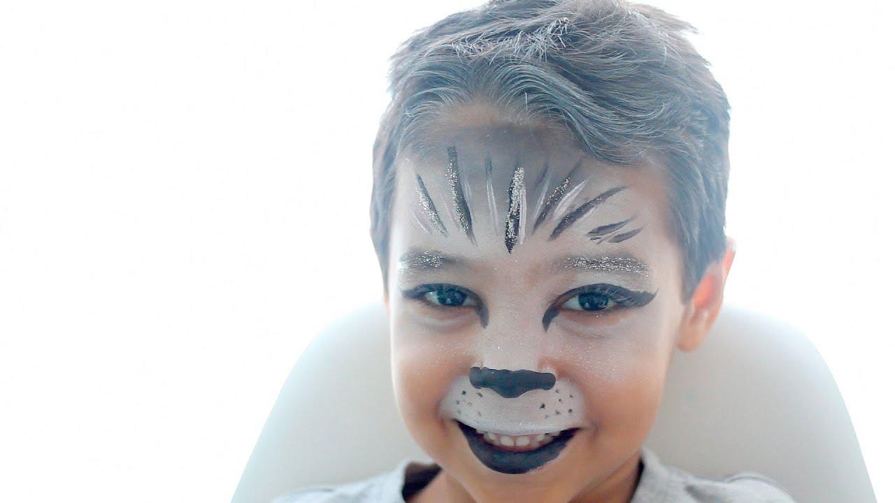 Maquillaje Para Niños De Lobo Youtube