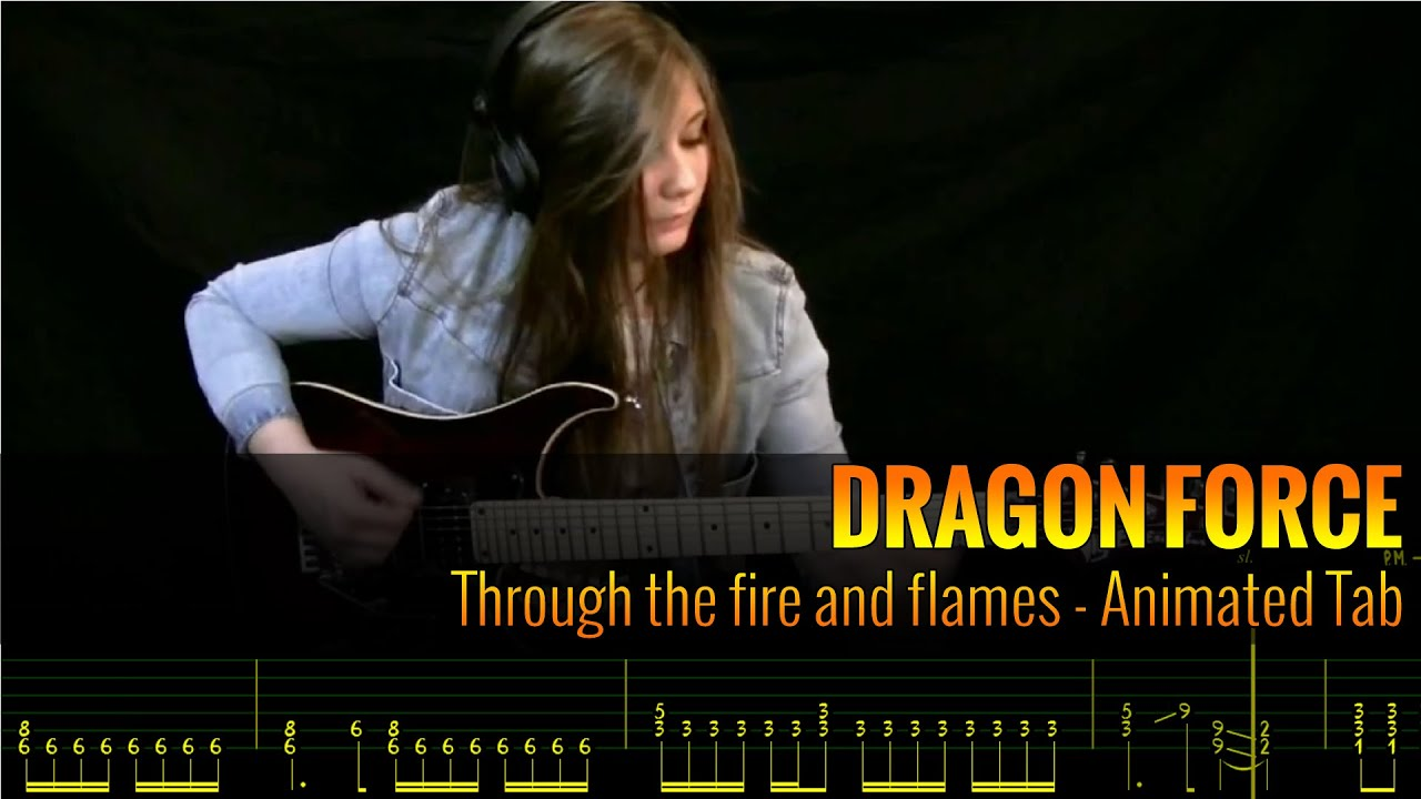Dragonforce - Through The Fire And Flames Tabs - AZ Chords
