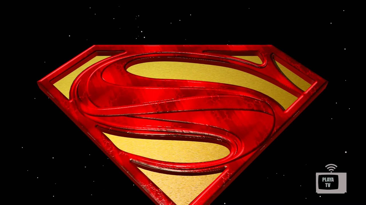 Animated 3d Model Superman Logo Youtube