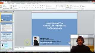 Upload Your Contact List to Facebook & include them in your targeted Ads