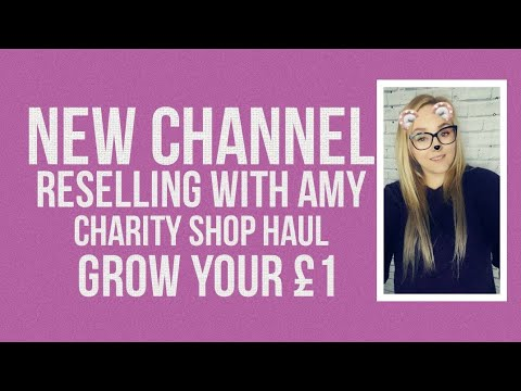 Reselling UK British reseller flipping thrift and charity shop haul on ebay to make profit