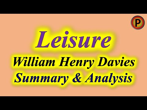 11e1401 IN HINDI Leisure Poem by William Henry Davies ✅
