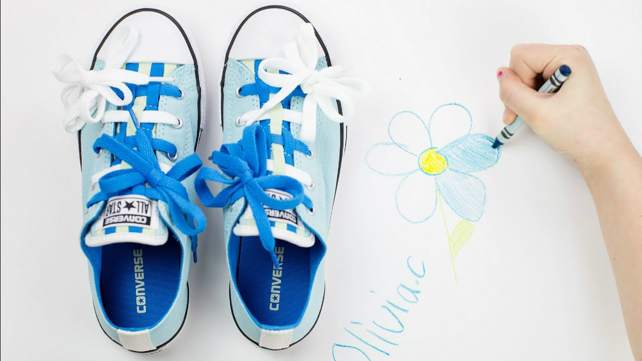 0e2145c1dfe6 How to Tie Shoelaces with Bar Laces and Flower Bows on Converse ...