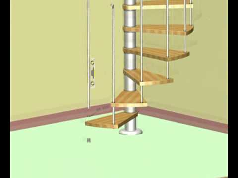 Vogue Spiral Staircase Installation Video From StairKits.co.uk   YouTube
