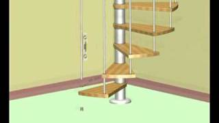 Vogue Spiral Staircase Installation Video From Stairkits.co.uk