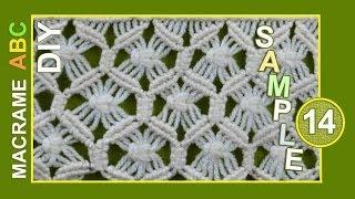 Repeat youtube video Macrame ABC - pattern sample #14