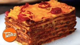 13-Layer Mexican Chili Lasagna Recipe | Twisted