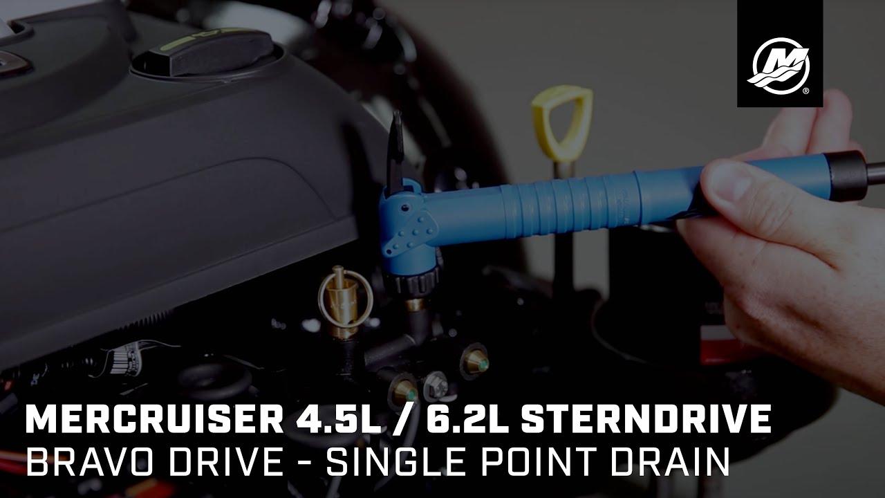 MerCruiser 4 5L / 6 2L Sterndrive - Bravo Drive - Single Point Drain
