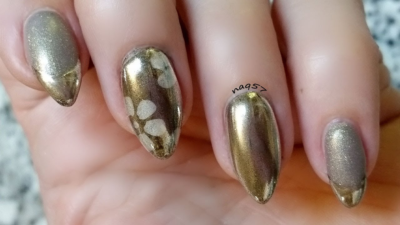Silver Chrome French Tips And Stamping