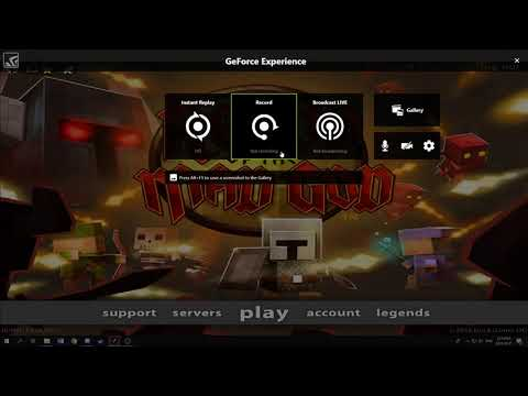 How to use Nvidia Instant Replay(Shadowplay) to record Rotmg/Desktop