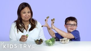Kids Try Their Parents' Least Favorite Foods | Kids Try | HiHo Kids