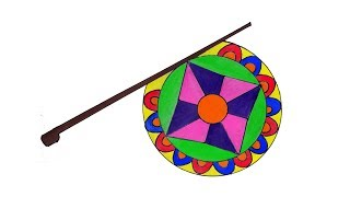 How to draw a Hand fan step by step, Hand fan drawing very easy