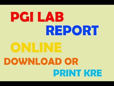 How To Download Pgi Lab Report