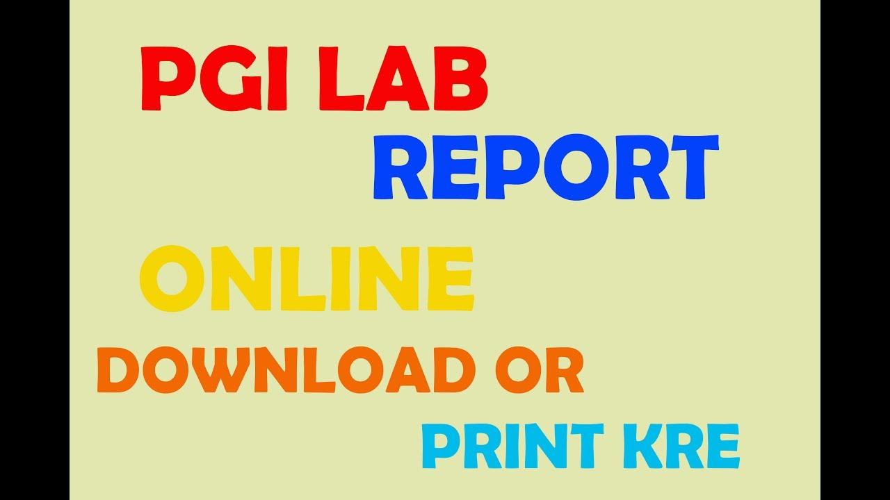 pgi lab reports