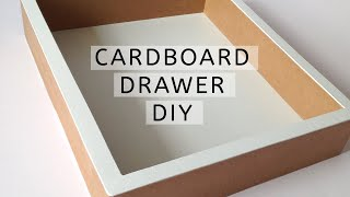 DIY - how to make a cardboard drawer (2) (corrugated cardboard furniture) HD