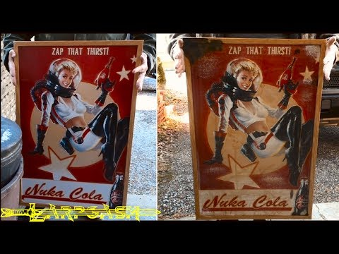 How to Age and Distress a Fallout Nuka Cola Poster - Larp Style