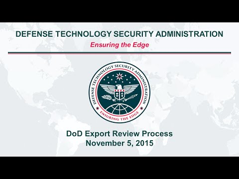 U.S. Department of Defense Export License Review Process