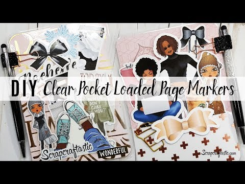 DIY Clear Pocket Loaded Page Markers for Traveler's Notebooks | Scrapcraftastic