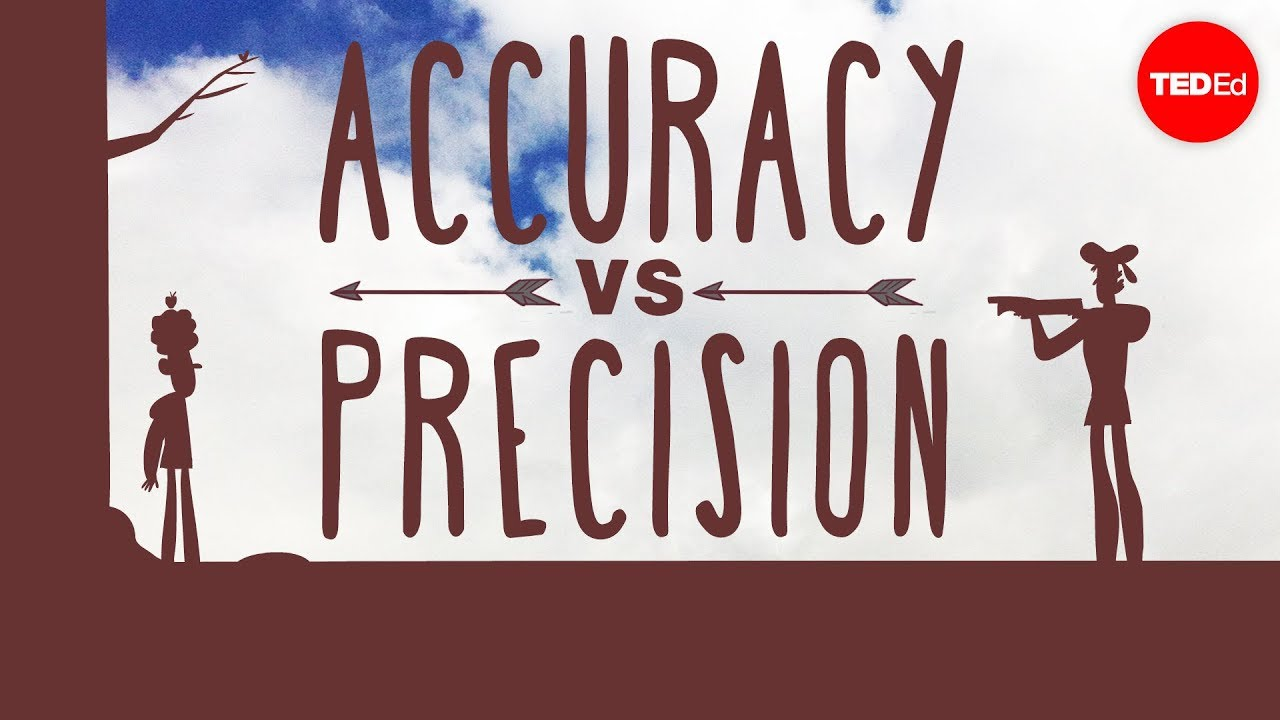 worksheet Accuracy Vs Precision Worksheet whats the difference between accuracy and precision matt anticole youtube
