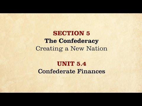 MOOC | Confederate Finances | The Civil War and Reconstruction, 1861-1865 | 2.5.4