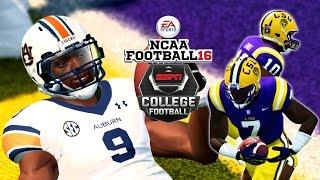 NCAA Football 16 |  #18 Auburn Tigers at #13 LSU TIGERS | Beast Mode Gameplay!