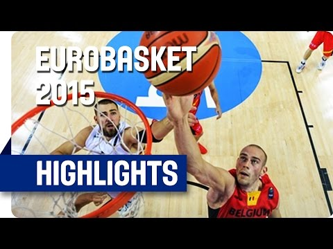 Lithuania v Belgium - Group D - Game Highlights - EuroBasket 2015