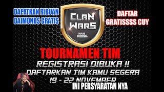 Rules of Survival (Indonesia)  - EVENT CLAN WARS RESMI DAFTARKAN TEAM KALIAN HADIAH RIBUAN DAIMONDS