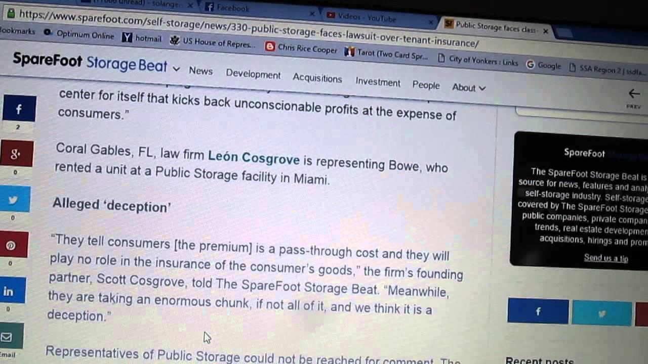 Public Storage Cl Action Lawsuit