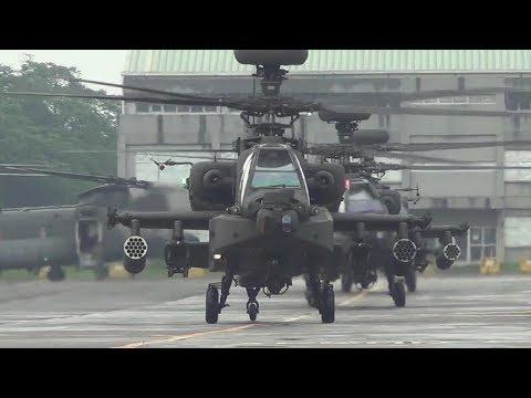 2017陸軍龍城營區開放 AH-64E阿帕契& AH-1W攻擊直升機戰技操演.