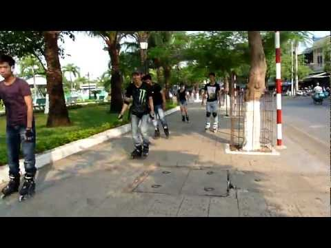 Bờ kè sáng 12/02/2012 (inline skate Biên Hòa Team )