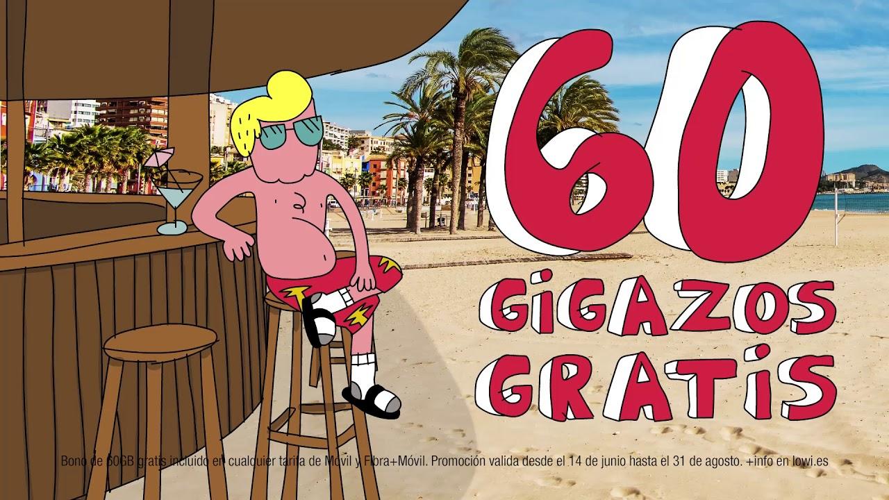 ¡60 GIGAZOS gratis en Lowi hasta final del verano!