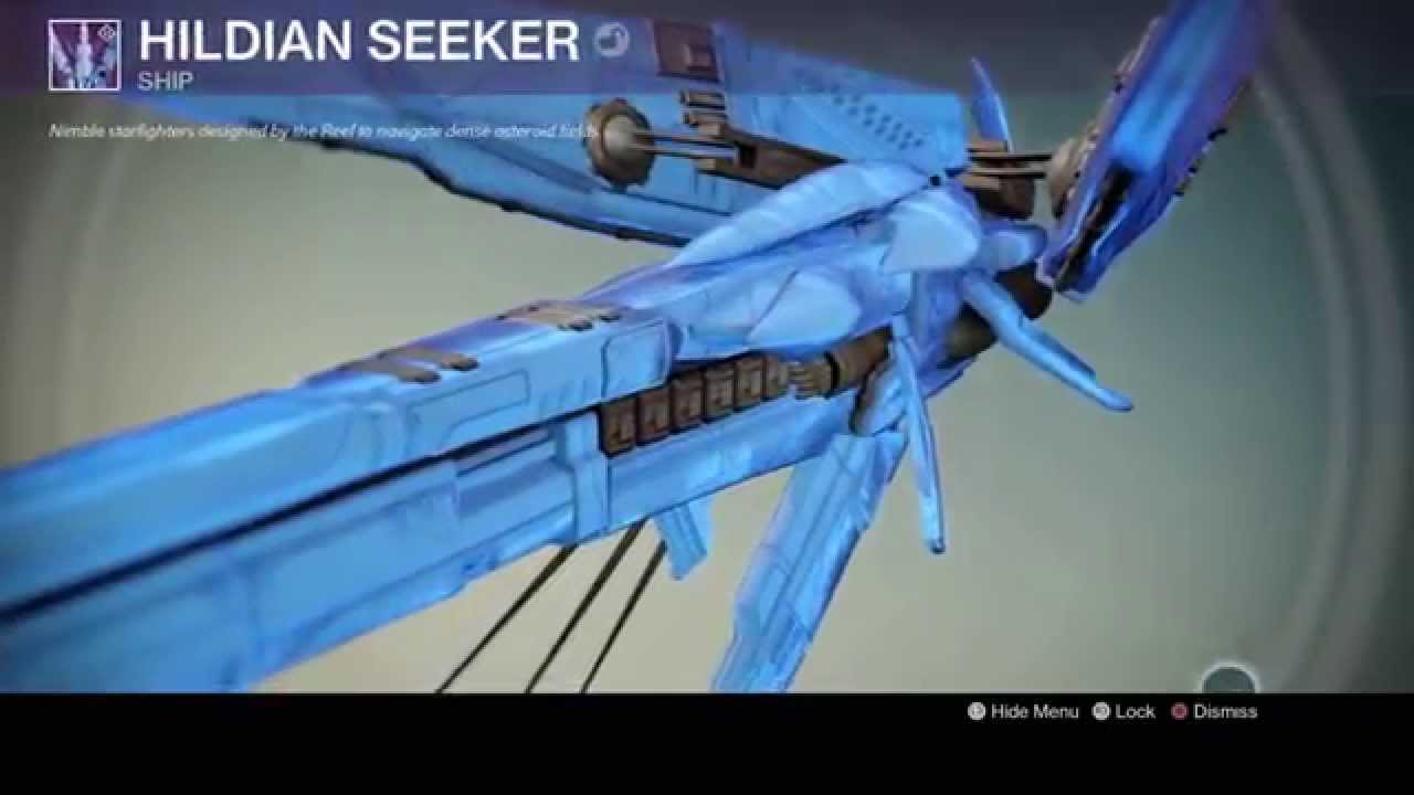 Destiny Legendary Ship Hildian Seeker From The Prison Of Elders