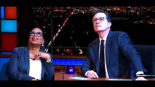 Oprah Winfrey And Stephen Colbert Take Turns Mocking God, Jesus And The Bible On The Late Show