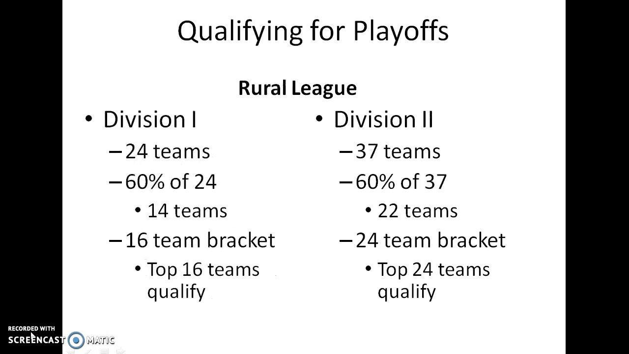 Determining Playoff Brackets for Proposed Metro-Rural Playoff Format -  YouTube