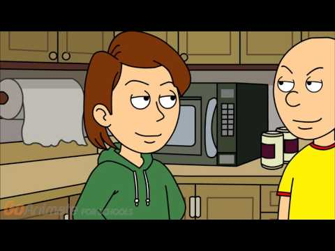 Caillou makes a dirty joke to his dad and gets grounded